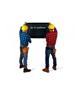 Установка кронштейна для телевизора c диагональю экрана до 32 дюймов