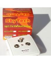 Оконечная абонентская розетка Skytech GC-2003A (SAT + TV + FM)